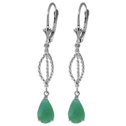 ALARRI 2 Carat 14K Solid White Gold Fulfilled Vows Emerald Earrings