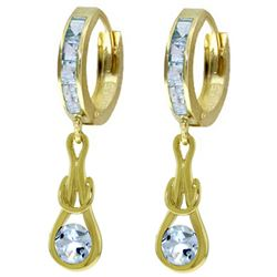 ALARRI 2.15 CTW 14K Solid Gold Love Knot Aquamarine Earrings