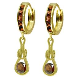 ALARRI 2.6 CTW 14K Solid Gold Love Knot Garnet Earrings