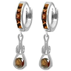 ALARRI 2.6 Carat 14K Solid White Gold Mapped By Waves Garnet Earrings