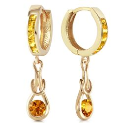ALARRI 2 Carat 14K Solid Gold Love Knot Citrine Earrings