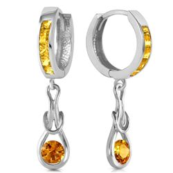 ALARRI 2 Carat 14K Solid White Gold Familiarity Citrine Earrings