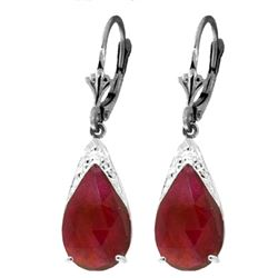 ALARRI 10 Carat 14K Solid White Gold Blessings Of Love Ruby Earrings