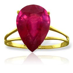 ALARRI 5 Carat 14K Solid Gold Nuance Upon Ruby Ring
