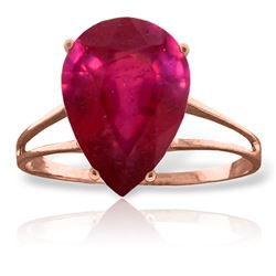 ALARRI 5 CTW 14K Solid Rose Gold Sensuality Ruby Ring