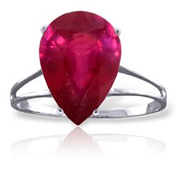 ALARRI 5 Carat 14K Solid White Gold Dante's Beatrice Ruby Ring