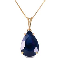 ALARRI 4.65 Carat 14K Solid Gold Sensual Inspiration Sapphire Necklace