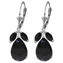 ALARRI 10.3 CTW 14K Solid White Gold Anxiously Waiting Sapphire Earrings