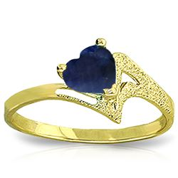 ALARRI 1 CTW 14K Solid Gold Empress Sapphire Ring