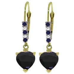 ALARRI 3.28 Carat 14K Solid Gold Hotcold Sapphire Diamond Earrings