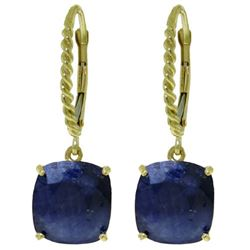 ALARRI 9.66 Carat 14K Solid Gold Mediterranean Isle Sapphire Earrings