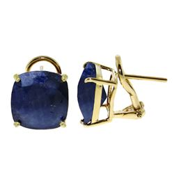 ALARRI 9.66 Carat 14K Solid Gold Provocative Sapphire Earrings