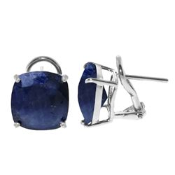 ALARRI 9.66 Carat 14K Solid White Gold What A Party Sapphire Earrings