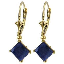 ALARRI 2.9 CTW 14K Solid Gold Cool Current Sapphire Earrings