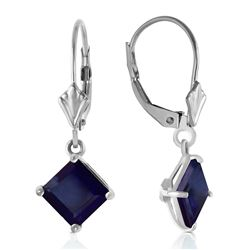 ALARRI 2.9 Carat 14K Solid White Gold Guided Spirit Sapphire Earrings