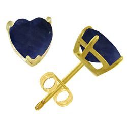 ALARRI 3.1 Carat 14K Solid Gold Stud Earrings Natural Heart Sapphire