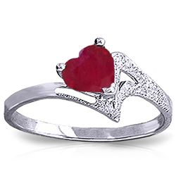 ALARRI 1 Carat 14K Solid White Gold Helen Oh Helen Ruby Ring