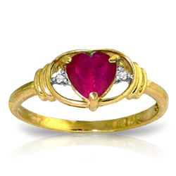 ALARRI 1.01 Carat 14K Solid Gold Woman Of Substance Ruby Diamond Ring
