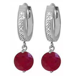ALARRI 4.03 Carat 14K Solid White Gold Most In Demand Ruby Diamond Earrings