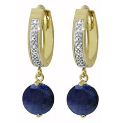 ALARRI 3.33 Carat 14K Solid Gold Organza Sapphire Diamond Earrings