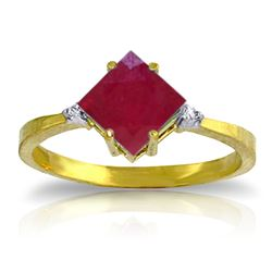 ALARRI 1.46 CTW 14K Solid Gold My Fire Inside Ruby Diamond Ring