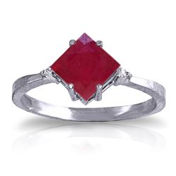 ALARRI 1.46 Carat 14K Solid White Gold Discover The Way Ruby Diamond Ring