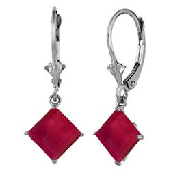 ALARRI 2.9 CTW 14K Solid White Gold Heart Isn't Coy Ruby Earrings