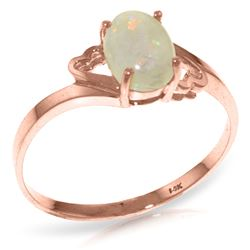 ALARRI 0.45 Carat 14K Solid Rose Gold Ring Natural Opal