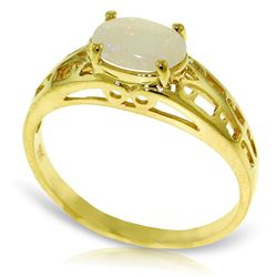 ALARRI 0.45 Carat 14K Solid Gold Filigree Ring Natural Opal