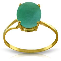 ALARRI 2.9 Carat 14K Solid Gold Rhapsody In Green Emerald Ring