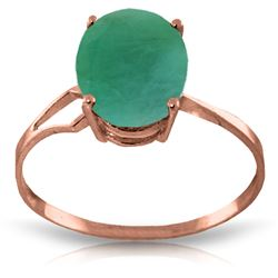 ALARRI 2.9 Carat 14K Solid Rose Gold Opulence Emerald Ring