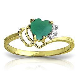 ALARRI 1.02 Carat 14K Solid Gold Spain Calling Emerald Diamond Ring