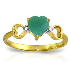 ALARRI 1.01 Carat 14K Solid Gold Exceptional Moments Emerald Diamond Ring