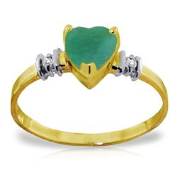 ALARRI 1.03 CTW 14K Solid Gold Ring Natural Emerald Diamond