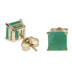 ALARRI 2.9 Carat 14K Solid Gold Woman A Mind Emerald Earrings
