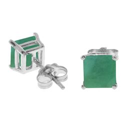 ALARRI 2.9 Carat 14K Solid White Gold Lights On Emerald Earrings