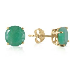 ALARRI 3.3 Carat 14K Solid Gold Girl An Attitude Emerald Earrings