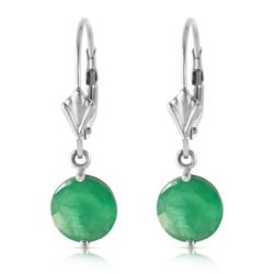 ALARRI 3.3 CTW 14K Solid White Gold Going Places Emerald Earrings