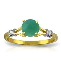ALARRI 0.62 Carat 14K Solid Gold Delectable Joy Emerald Diamond Ring