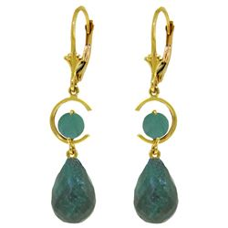 ALARRI 18.6 CTW 14K Solid Gold Moonlight Emerald Earrings