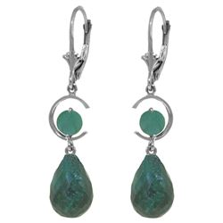 ALARRI 18.6 Carat 14K Solid White Gold Willing Emerald Earrings
