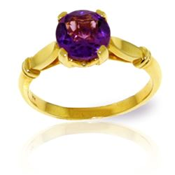 ALARRI 1.15 Carat 14K Solid Gold Solitaire Ring Purple Amethyst