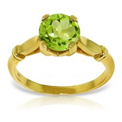 ALARRI 1.15 CTW 14K Solid Gold A Passage Back Peridot Ring