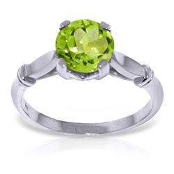 ALARRI 1.15 Carat 14K Solid White Gold Knowing That You Peridot Ring