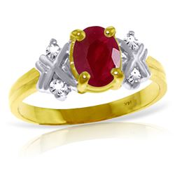 ALARRI 1.47 CTW 14K Solid Gold Ring Diamond Ruby