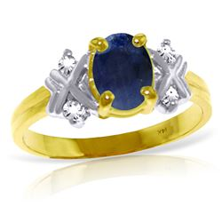 ALARRI 1.47 Carat 14K Solid Gold Love Lessons Sapphire Diamond Ring