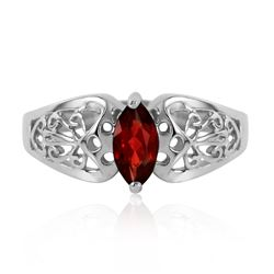ALARRI 0.2 CTW 14K Solid White Gold Escape Your Fate Garnet Ring