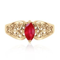 ALARRI 0.2 Carat 14K Solid Gold Lily Ruby Ring