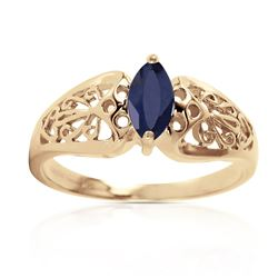 ALARRI 0.2 Carat 14K Solid Gold Lily Sapphire Ring