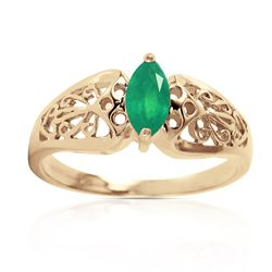 ALARRI 0.2 CTW 14K Solid Gold Lily Emerald Ring
